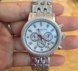Reloj de la señora manera de la voga del diamante del calendario