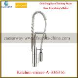 O pulverizador dobro do cromo retira o misturador do dissipador de cozinha da mola do pulverizador