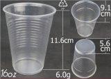 Niedriges transparentes Wegwerfplastikcup der Kosten-16oz ohne Kappe