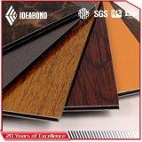 La conception classique du bois Décoration intérieure en aluminium ACP de texture