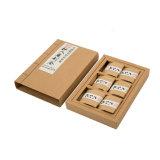 6 paquetes de color marrón de la estraza clásico té deslizante de la caja de papel de embalaje