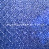 Blaues Draht Nashiji Pattenred Glas