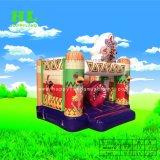 Clown-aufblasbares kombiniertes federnd Schloss mit Plättchen-springendem Haus für Kinder