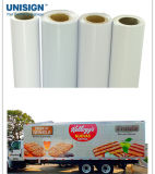 Unisign PVC 영원한 비닐 유리창을%s 용해력이 있는 인쇄할 수 있는 자동 접착 비닐 필름