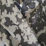 100% Poli teia de alta densidade de tecido de cortina de prata