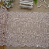 accessori bianchi di guarnizione dell'indumento del merletto del bordo di 20cm del bordo all'ingrosso del ricamo
