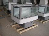 Витрина индикации замораживателя острова верхней части холодильника изготовления Китая стеклянная