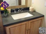 Ванная комната тщеты одиночных черных тщет ванной комнаты гранита черная с Countertop