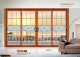 Раздвижная дверь профиля новой конструкции алюминиевая с экраном мухы