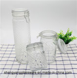 De vrije Fles van het Glas van de Container van de Opslag van het Glas van de Opslag van het Voedsel van de Steekproef Kruik Gevormde met het Verzegelen van Deksel