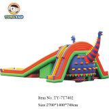 De openlucht Reus die van de Vorm van de Dinosaurus van het Park Speelgoed Inflatables adverteert