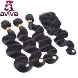 自然なブラジルのバージンの毛の拡張