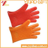 Custom высококачественные цветные силиконовые перчатки для приготовления пищи, кухонные рукавицы (YB-AB-016)