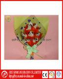 Soft Plush Mini Dog Bouquet de flores Gift Toy