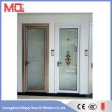 Porte en aluminium en verre givré de modèle de portes de chambre à coucher