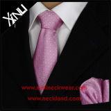 Laços feitos sob encomenda tecidos do Mens de 100% jacquard de seda e quadrado Pocket