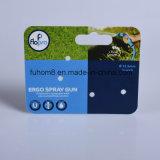 Cartão de suspensão de plástico de impressão profissional para exibição de produtos