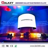 Fija de alta definición flexible cubierta suave pantalla LED curvada creativo/ cartelera para la construcción de Centro publicidad o la decoración calles comerciales, estadio