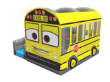 Uitsmijter Combo van de Bus van de school de Opblaasbare Springende voor Jonge geitjes