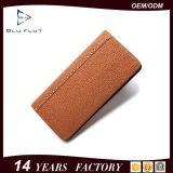 贅沢なハンドメイドの紳士の刻まれたロゴの実質の革カードの札入れの財布