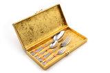 2017 conjunto de la cuchillería del rectángulo 4PCS del oro del acero inoxidable de los nuevos productos