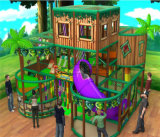 Beifall-Unterhaltung scherzt kleiner Dschungel-themenorientierten Innenspielplatz