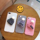 Симпатичные девушки аргументы за шерсти, мягкая крышка раковины мобильного телефона на iPhone 6 6s