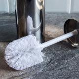 Spazzola della toletta dell'acciaio inossidabile e supporto - spazzola igienica bianca del Wc