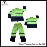 Olá vis segurança Casacos Calças Vestuário de trabalho Mens Reflective Rain Suit