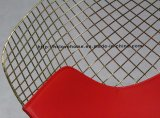 Speisen Kd Sitzdes roten PU-Kissen-Draht-Diamant-Stuhls