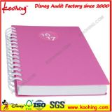 A4 / A5 Atacado Customized Logo Colorido PP Hard Plastic Cover Double Ring Spiral Notebooks / Bound Journals for School
