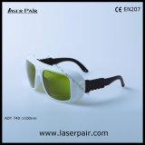 Hoge Optische Dichtheid en 60% Overbrenging van de Bril van de Veiligheid van de Laser Yhp voor Diode & Nd: YAG Lasers 8001100nm met Ce En207 DIN Certco