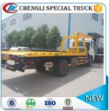 6 Wheel Dongfeng Road Rescue Crane Tow Flatbed Truck