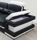 Sofá de sala de estar moderno Sofá de couro de canto grande em forma de U Seccional