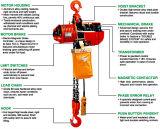 élévateur 220V à chaînes électrique avec le double crochet