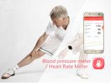 Reloj elegante del ritmo cardíaco de la presión arterial de la glucosa de sangre
