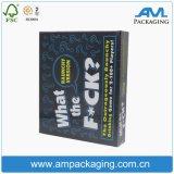 Handmade напечатанный картон коробки карточки VIP упаковывая изготовленный на заказ бумагу