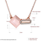 Halsband van de Steen van de Vrouwen van Zircon de Materiële Goud Geplateerde