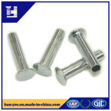 Oval Head Brass / Zinc Plated Semi Tubular Steel Rivet