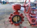 Тип клапан-бабочка волочения DIN морской (колесо руки/глист)