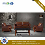 Sofa moderne de bureau de divan de cuir véritable de meubles de bureau (HX-CF021)