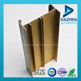 Profil en aluminium en bronze d'extrusion d'or pour le guichet et la porte de bâti