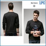 Het grijze Overhemd van de Mensen van het Embleem van de Druk van de Manier door Guangzhou Garment Fabriek
