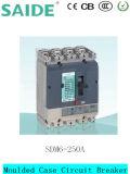 Автомат защити цепи отлитый в форму Sdm6-250A случая 250A MCCB