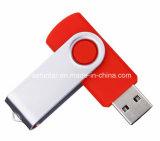 Mecanismo impulsor plástico del flash del USB de Pendrive del eslabón giratorio del disco del USB del metal