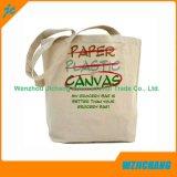 Saco de algodão personalizado natural de 5 oz, sacola de algodão liso
