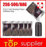 Sac de remplissage de fibres du cheveu 25g et 50g de marque de distributeur d'OEM
