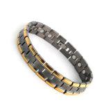 Noir et plaqué or Bracelet magnétique de l'ion négatif de la santé