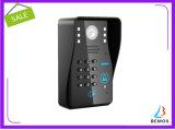 """7 """" campanello del citofono del telefono del portello RFID dei videi di colore 2 di parola d'accesso senza fili di WiFi video"""