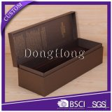 Rectángulo de encargo de empaquetado del whisky de la cartulina del surtidor del rectángulo del regalo con la pieza inserta